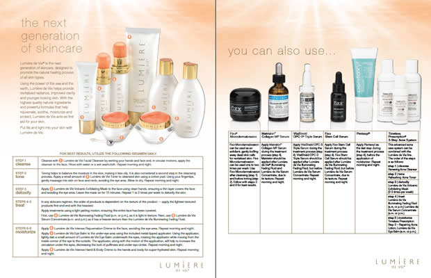 Lumière de Vie Regimen Skin Care Regimen