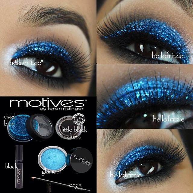 Vivid Blue Glamour