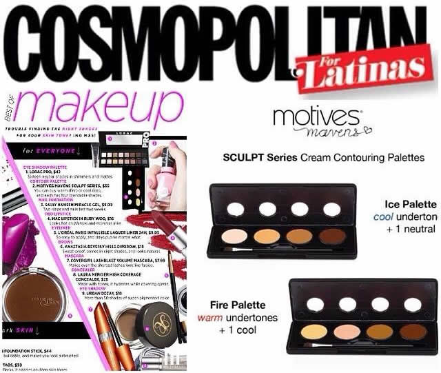 Motives Mavens Sculpt Series Awarded Best Contour Palette by Cosmo for Latinas