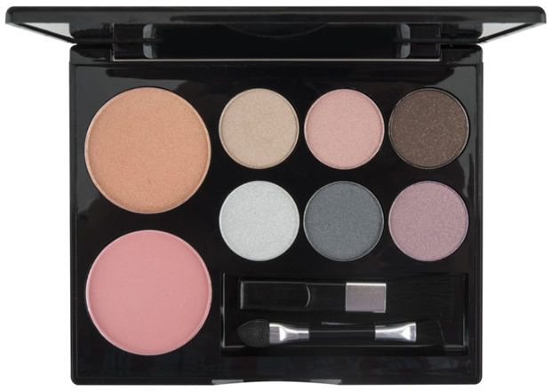 Motives Boxed Beauty includes 6 eye shadows and 2 blushes