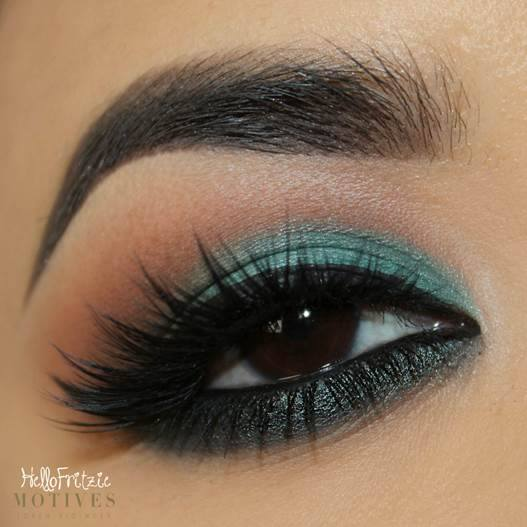 Fresh Look using new Motives Pressed Eye Shadow