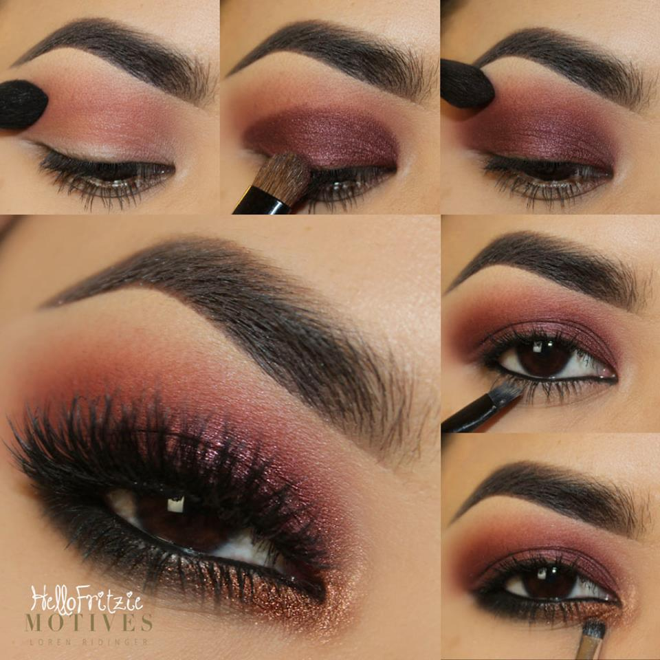 Plum eye makeup tutorial cat eye makeup makeup step by step tutorial faddish baditri Image collections
