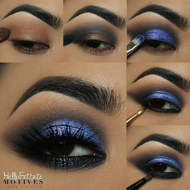 Midnight Blue Eye Shadow Tutorial