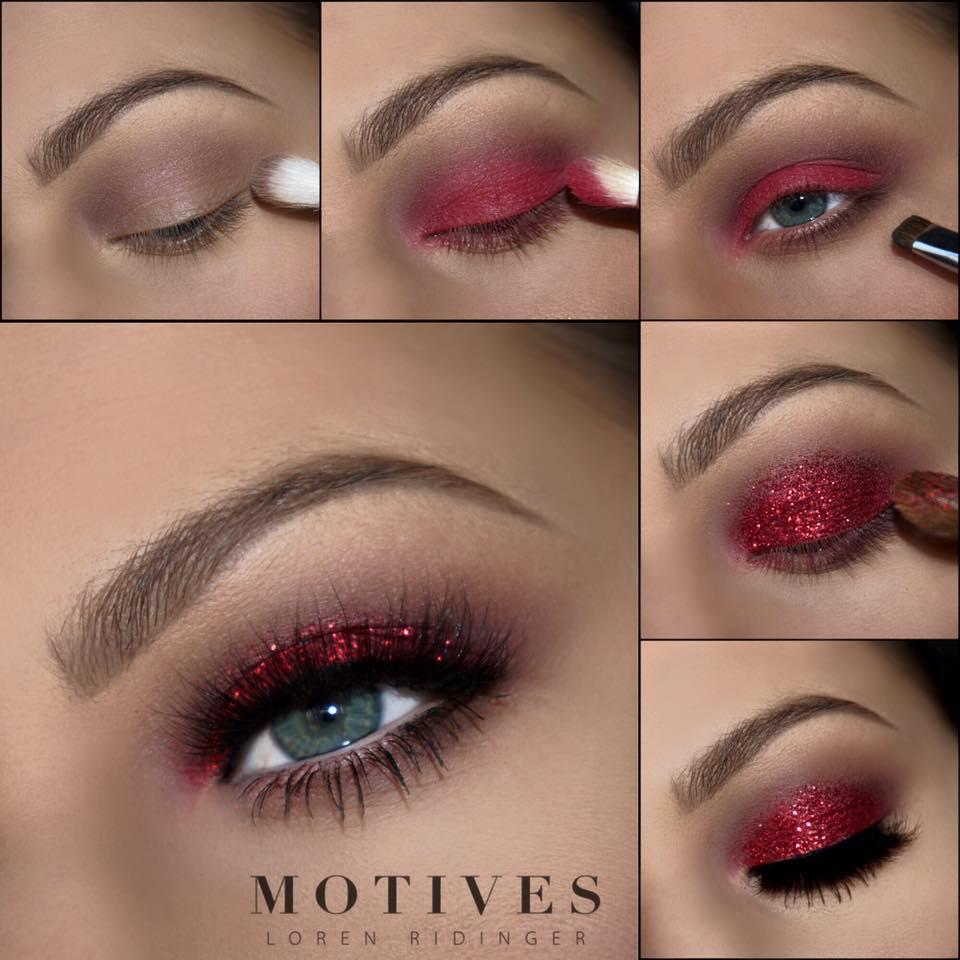 lady-gaga-red-eyeshadow